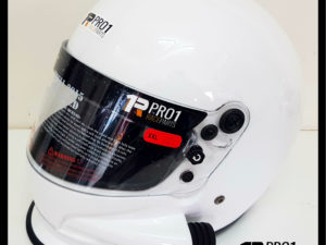 Snell White Side Air Helmet