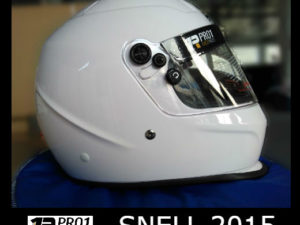 Snell full face helmet white