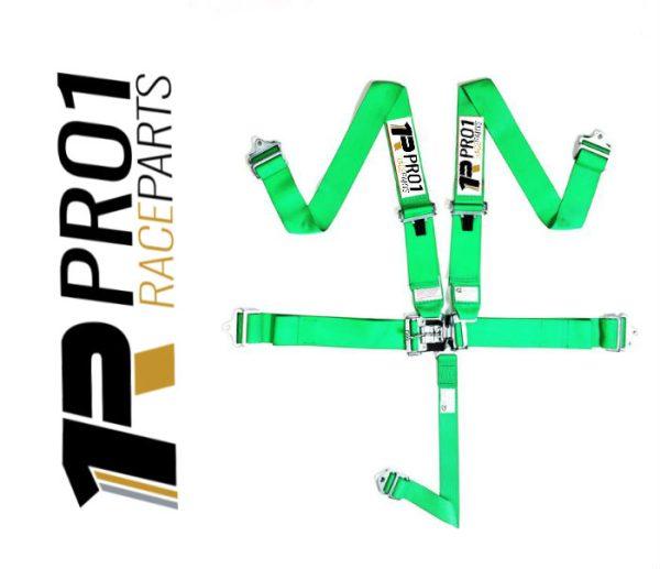 Pro1 SFi Racing Harness Green
