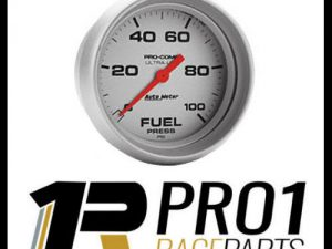 Autometre Fuel Pressure Gauge 2 5/8 0-100 psi High Pressure