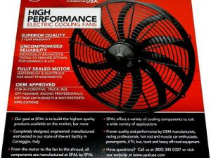"Spal 12"" Curved Thermo Fan Speedway"