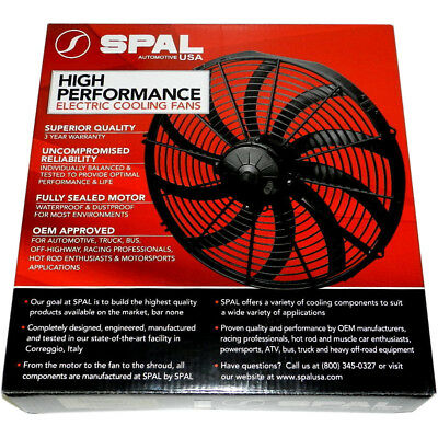 """Spal 12"""" Curved Thermo Fan Speedway"""
