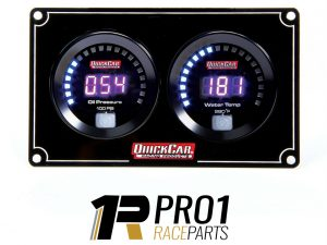Quickcar QRP67-2001 Gauge Panel Assembly, Digital, Oil Pressure / Water Temperature, Black Face, Kit FREE POST*