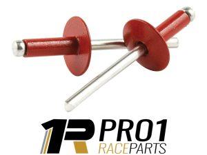 ALLstar red rivets large head aluminium Speedway
